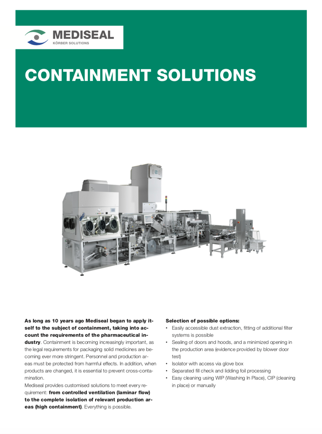 Mediseal Containment Solutions